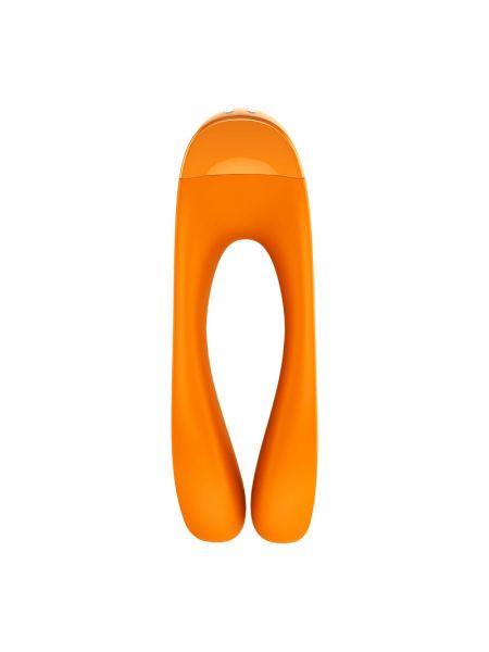 Вибратор на палец Satisfyer Candy Cane Orange
